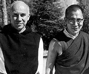 Thomas Merton and the Dalai Llama, unveiling the fall fashion line.